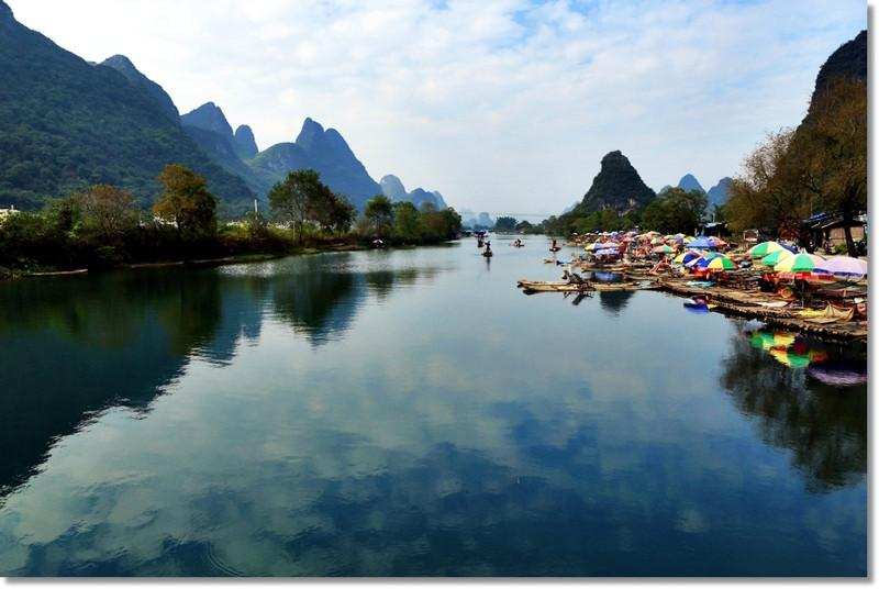 桂林遇龙河风景图片