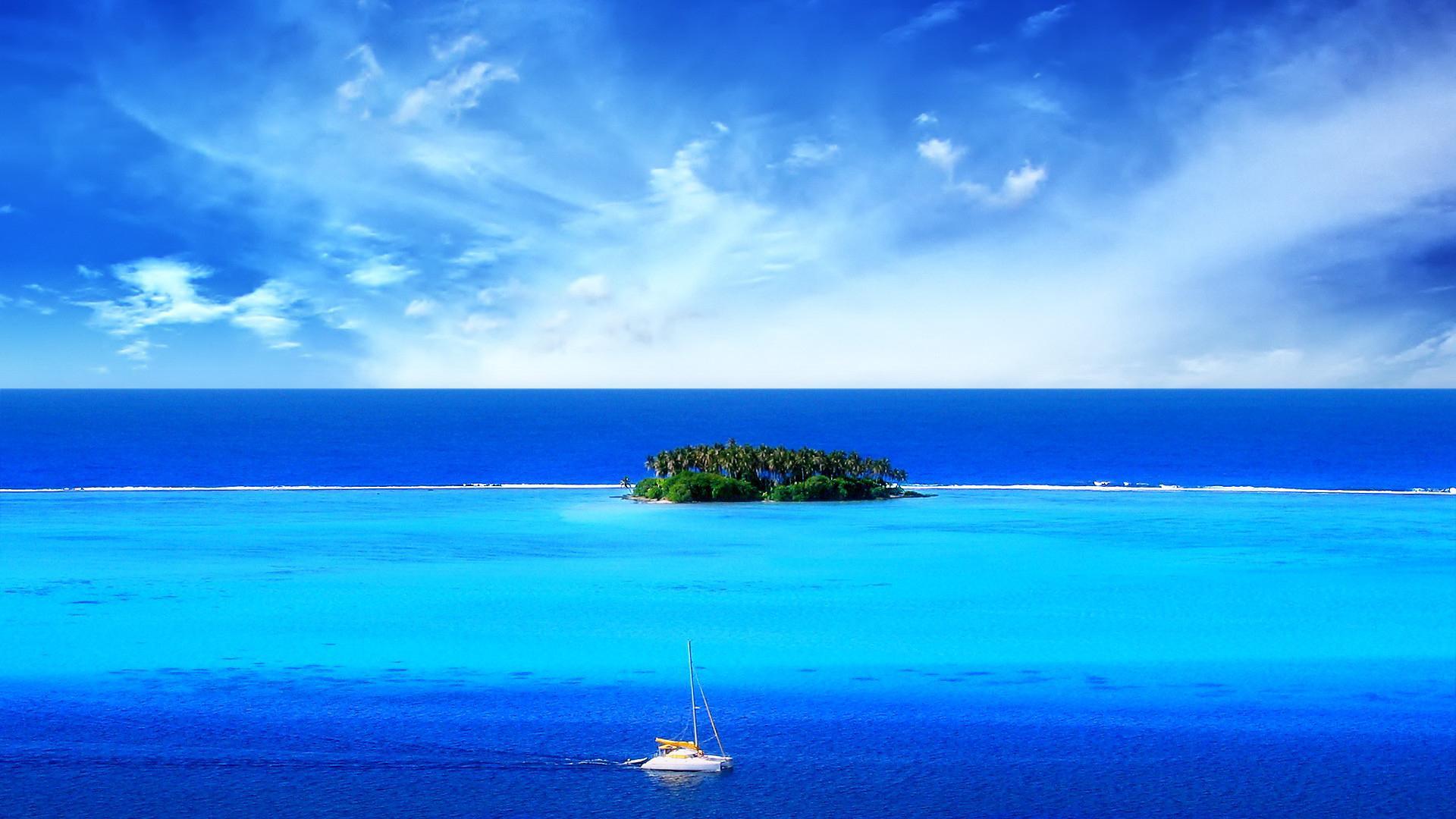神秘的海上孤岛图片高清宽屏壁纸_图片新闻_东方头条
