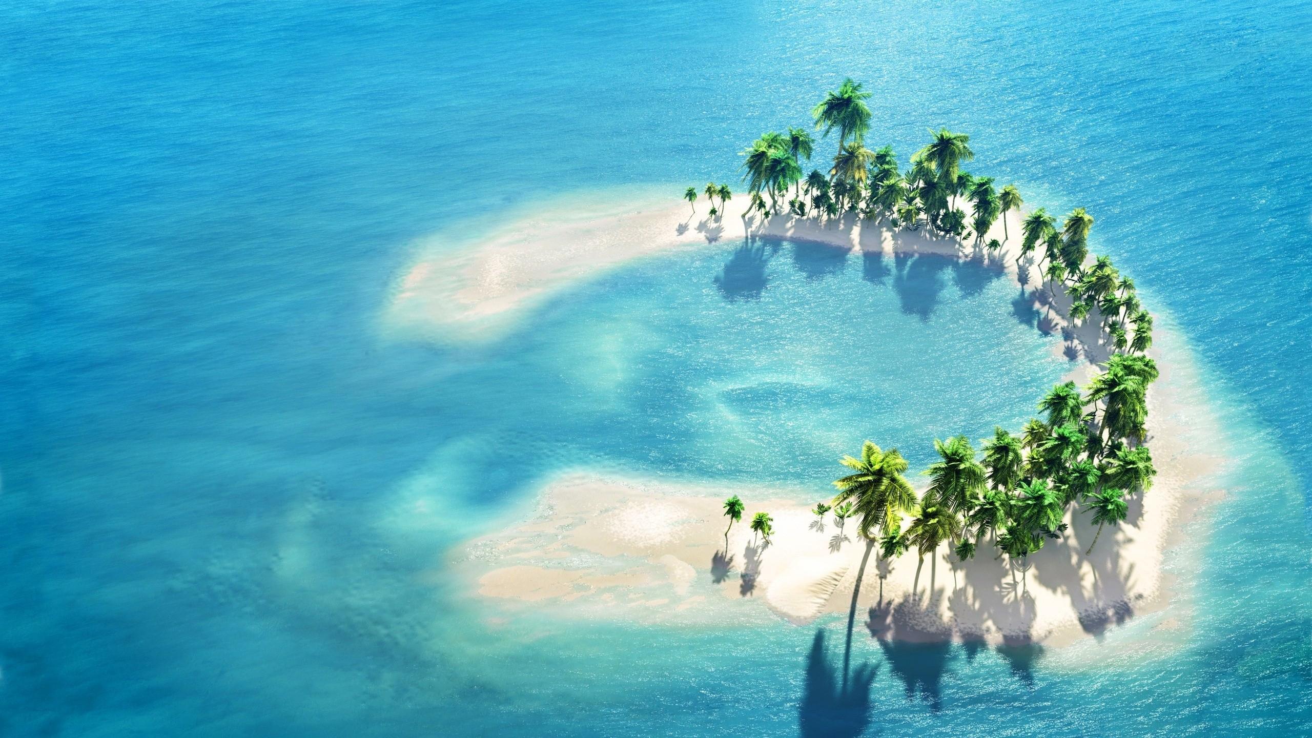 神秘的海上孤岛图片高清宽屏壁纸