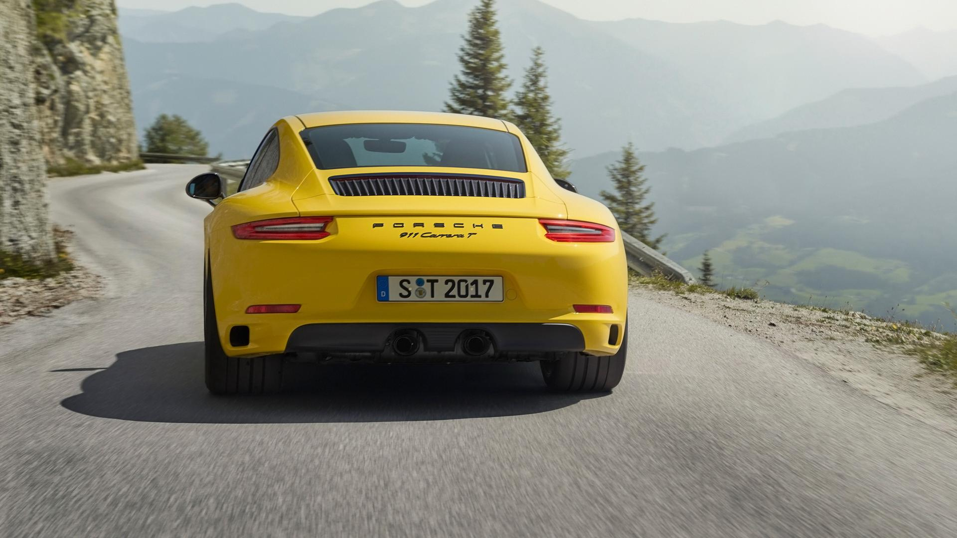 保时捷911黄色跑车高清汽车图片桌面壁纸_图片_猫扑