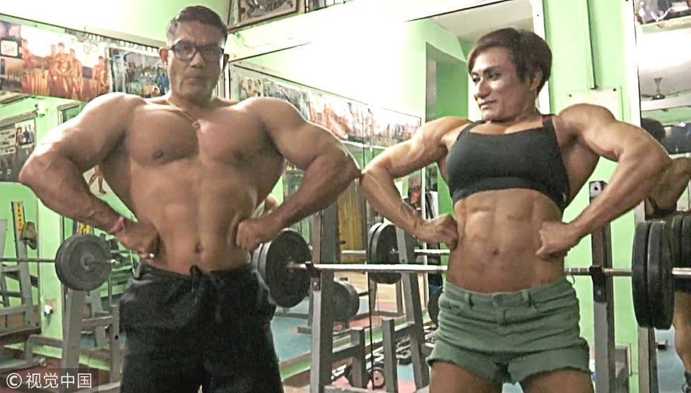 来自印度的夫妻伯伦 (Borun Devi Yumna) 和玛莫塔 (Mamota Devi Yumna) 与一般的夫妻不太一样,他们俩有着令人称羡的壮硕身材。