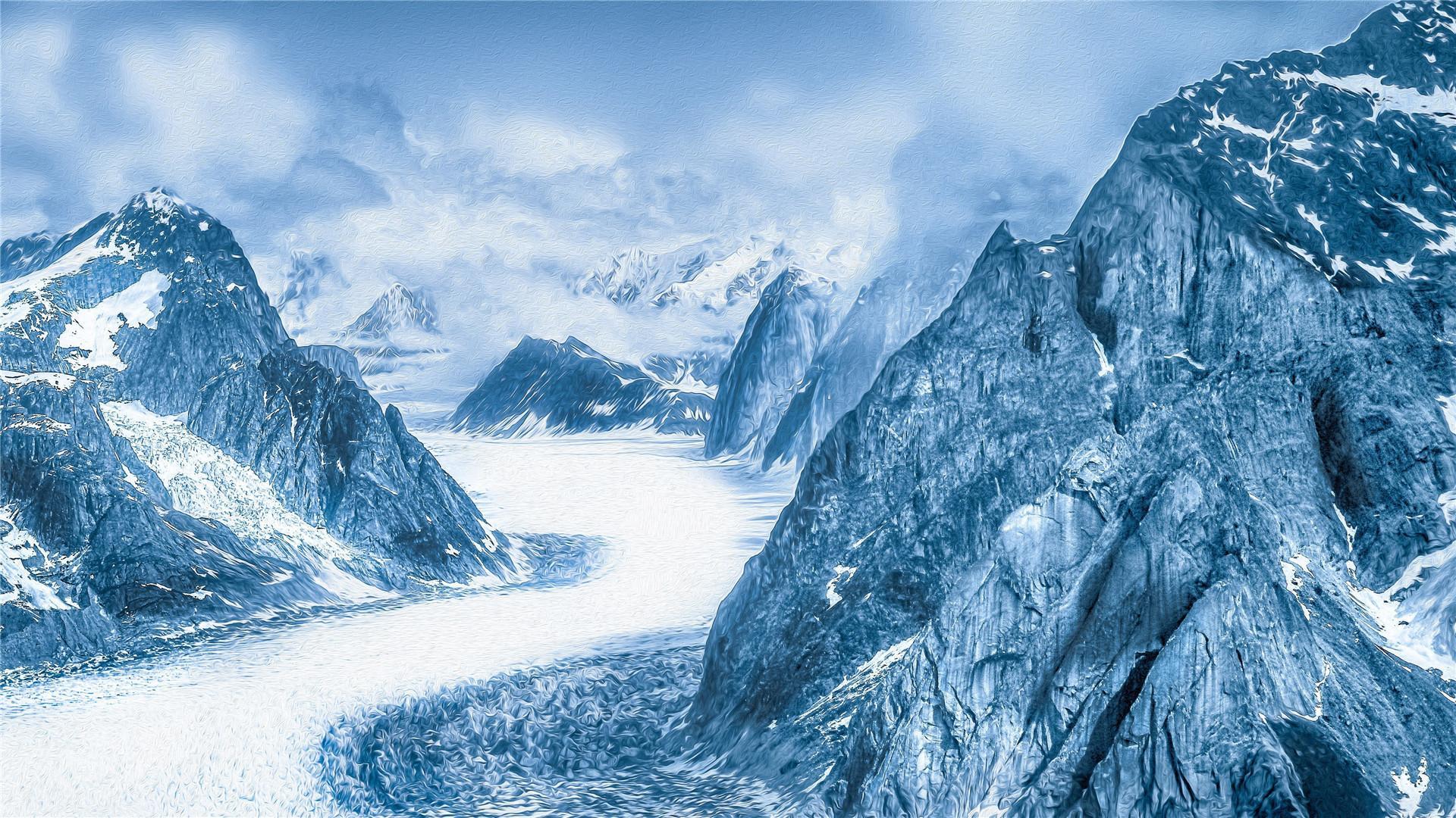 雪山冰川唯美风景高清桌面壁纸_图片新闻_东方头条