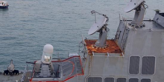 向俄罗斯看齐?停靠香港的美国军舰锈蚀严重