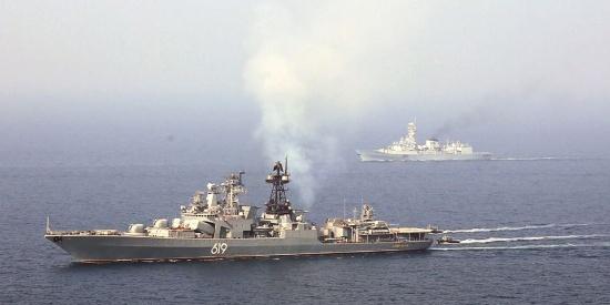 俄罗斯军舰访巴基斯坦 和巴基斯坦举行海上演习