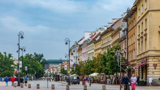 欧洲波兰华沙老城建筑风景图片