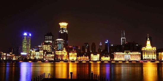 上海外滩城市夜景图片桌面壁纸