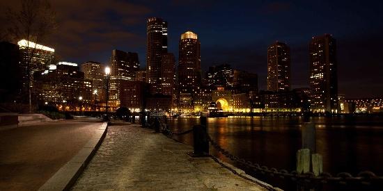 波士顿城市夜景图片桌面壁纸