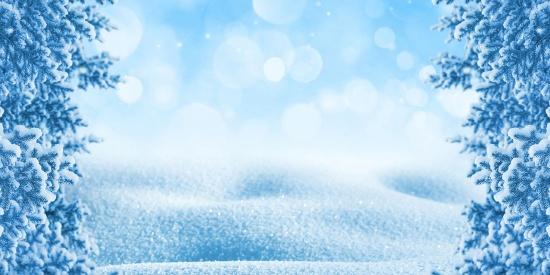 静谧唯美的雪景高清桌面壁纸