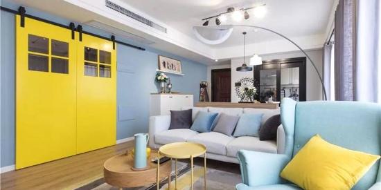 蓝色主调的家,安静优雅好气质!