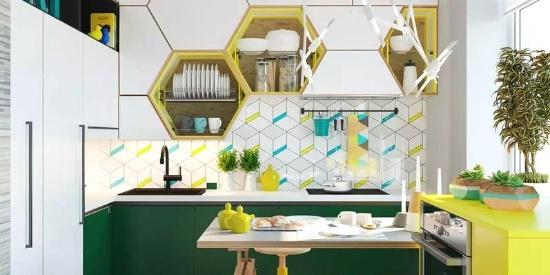 2019年厨房墙面流行这样铺,别只用小白砖了!