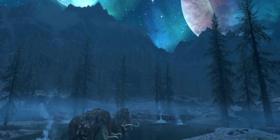 唯美意境天空夜晚风景图片壁纸