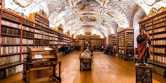 世界最美图书馆 捷克斯特拉霍夫修道院神学图书馆