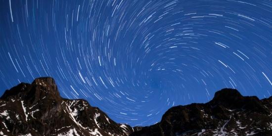 满天星轨自然风景图片