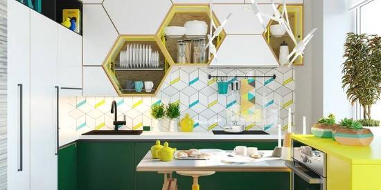 2019年厨房墙面流行这样铺,别再只用小白砖了!