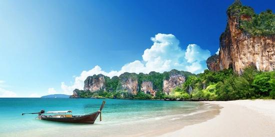 清爽唯美的海滩风景图片桌面壁纸