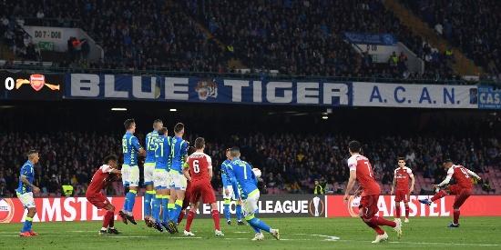 欧联:阿森纳1-0那不勒斯