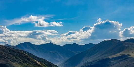 四川甘孜大气自然风景图片
