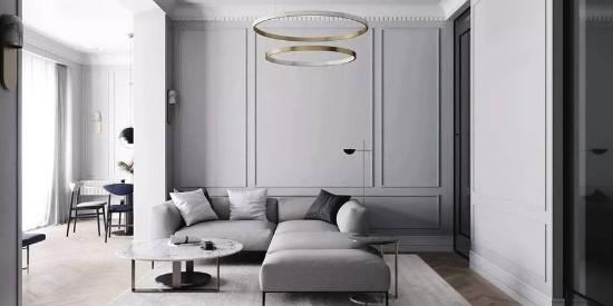 高级灰+石膏线,打造一个优雅气质之家!