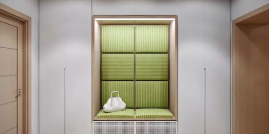 门厅鞋柜+衣柜的设计,衣帽间都可以省了!