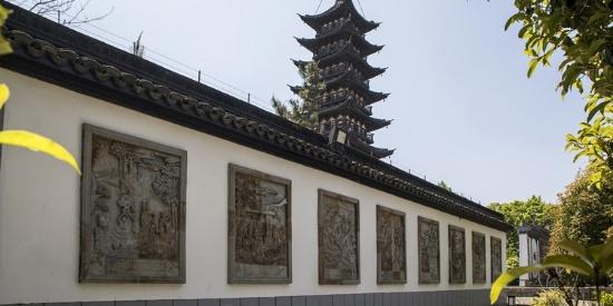 松江古城方塔园风景摄影图片壁纸
