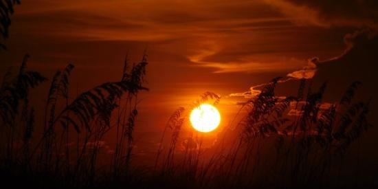 景色秀美的夕阳图片