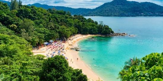美丽的泰国海滩自然风景图片