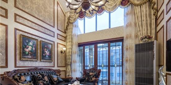 新古典美式风格别墅设计客厅装修效果图