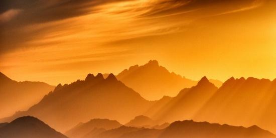 唯美幽境的黄昏自然风景图片