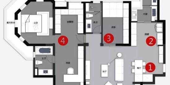 138平的美式风二居室,轻奢的软装设计