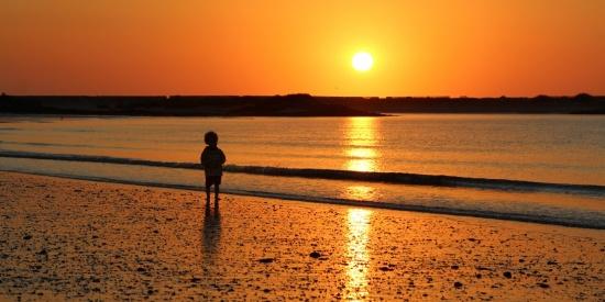 海边的日出图片