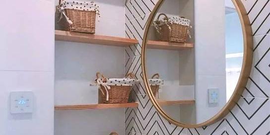 卫生间洗手台壁龛效果图,整洁大方全靠它!