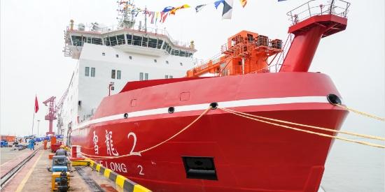 """走进""""雪龙2""""号:船艏和船艉都能破冰 我国首艘自主建造极地科考船探秘"""