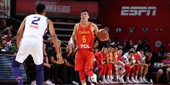NBA夏季联赛:中国男篮VS太阳