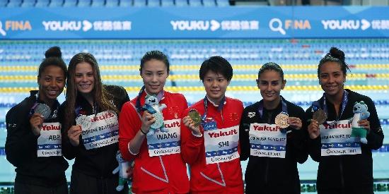 游泳世锦赛王涵施廷懋女双3米板夺冠