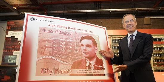 """""""人工智能之父""""图灵登上英国50英镑新钞"""