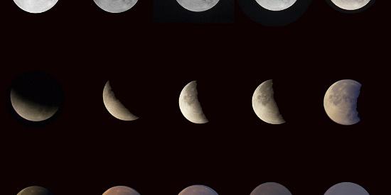 """新疆上演""""天狗吃月""""年度大片 可见月食全过程"""