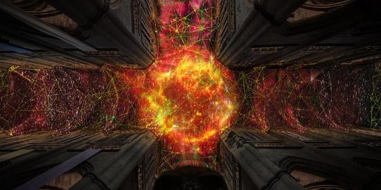 艺术家用现代技术让法国大教堂天花板惊艳众人