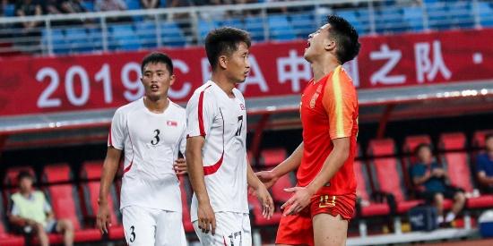 国奥热身赛:中国队1-1朝鲜队