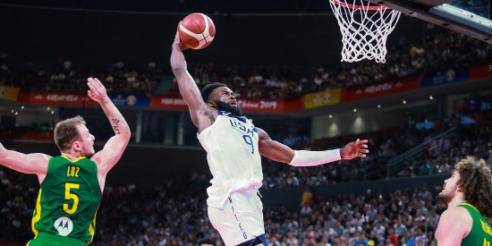篮球世界杯-美国89:73胜巴西 五连胜晋级八强