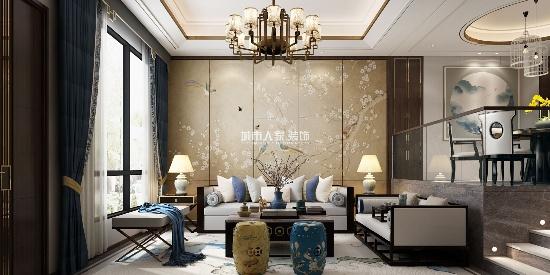 曲江大城250㎡跃层新中式风格