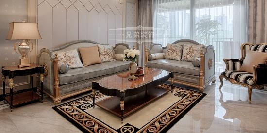 金科公园王府设计案例 轻奢简欧设计浪漫舒适!