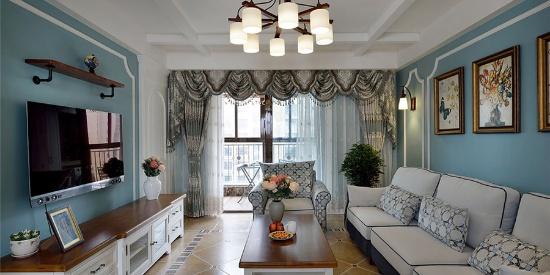 福星华府誉境130平三居室美式风格