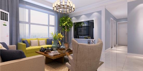 112㎡三居室简约美式,简单干净的优雅