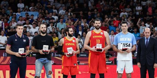 篮球世界杯最佳阵容出炉:斯科拉携西班牙两将入选