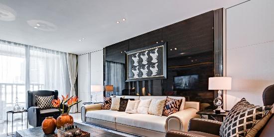 146㎡现代轻奢风家居装修,营造出优雅高端的