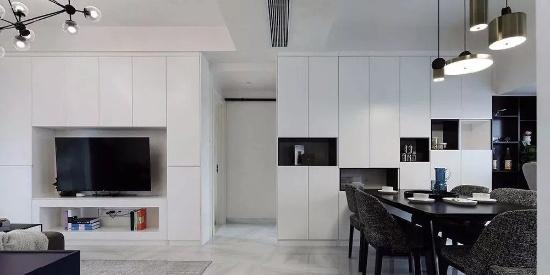稳重的家具色调,带来的是一个成熟舒适的气氛
