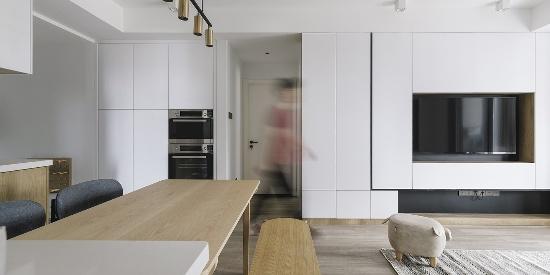 极简主义的小清新,三居室简约之风