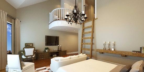 超大复式别墅美式风格豪华装修效果图--别墅-图片之家