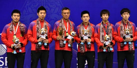 亚锦赛11连冠!中国男乒横扫韩国 收获奥运门票