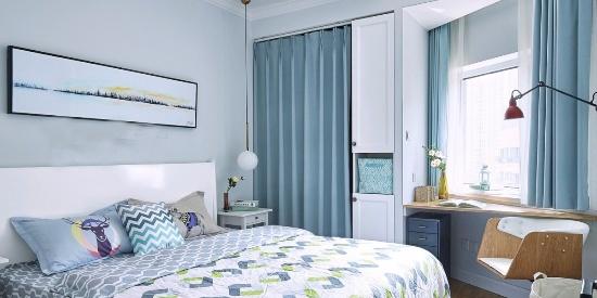 温馨暖色调北欧风格卧室装修效果图--卧室装修效果图-图片之家